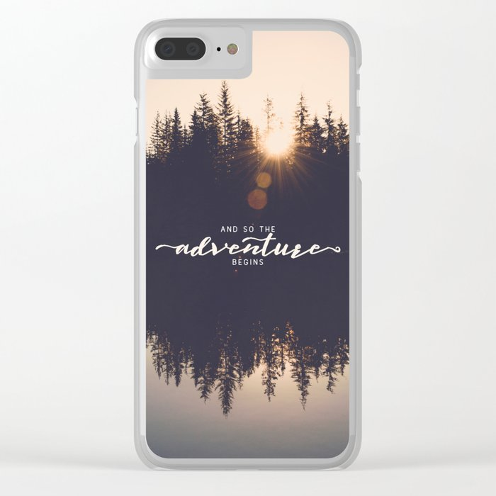 And So the Adventure Begins II Clear iPhone Case
