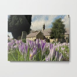Church Flowers with texture Metal Print