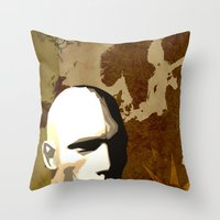 travel poster Throw Pillows featuring Travel Poster by ben_biddiscombe