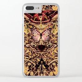 Honeysuckle, Butterflies and Moths Clear iPhone Case