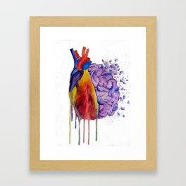 Heart vs. Mind Framed Art Print