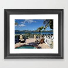 Pool with a view, St. John, USVI Framed Art Print