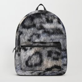 Snow Leopard Wild Cat Pattern Backpack