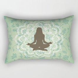 Yoga Meditation Mandala Rectangular Pillow
