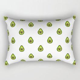 Avocado Hearts (white background) Rectangular Pillow
