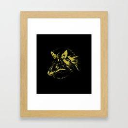 Yellow GDM Sky Framed Art Print