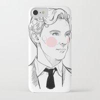 gentleman iPhone & iPod Cases featuring Gentleman by Sara E. Mayhew