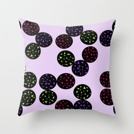 Black Globular with Spotting Color in it Throw Pillow