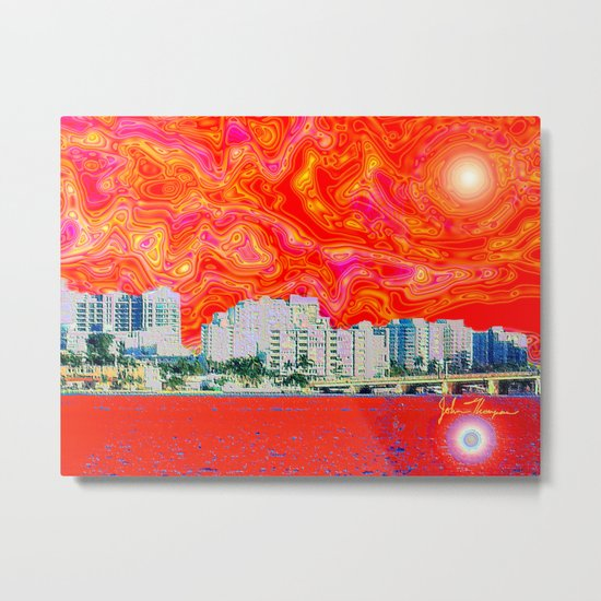 Miami Afternoon 2 Metal Print