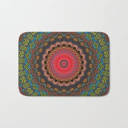 Basal Color Mandala 2 Bath Mat