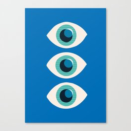 Watching You-Blue Canvas Print