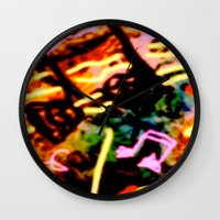 matisse Wall Clocks featuring Matisse Notes by RIA CURLEY: Limited Edition Digital Art