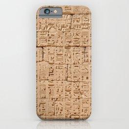 Hieroglyphs at Medinet Habu iPhone Case