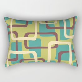 Mid Century Modern Overlapping Squares Pattern 134 Rectangular Pillow