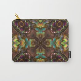 Abalone shell with a geometric kaleidoscopic design Carry-All Pouch