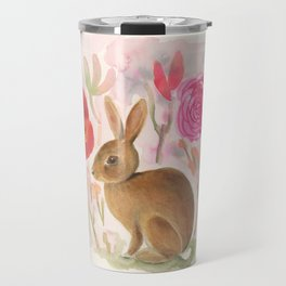 Cottontail Rabbit in the Garden Travel Mug