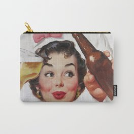 Pin Up Girl and Beer Vintage Art Carry-All Pouch