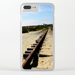 Tracks Into the Horizon Clear iPhone Case