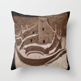The Cliff Dwellers - Legends Of America Throw Pillow