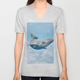 WHALE HELLO THERE Unisex V-Neck