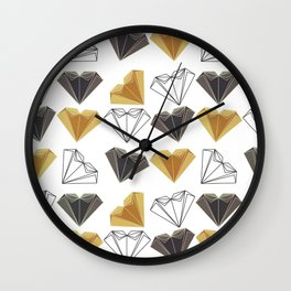 A heart is made of ... paper, scissors, rock Wall Clock