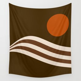 Swell - Cocoa Stripes Wall Tapestry