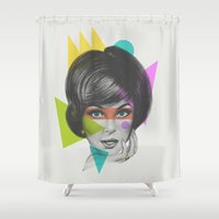 makeup Shower Curtains featuring Makeup by Zeke Tucker