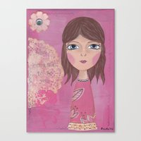 courage Canvas Prints featuring Courage by ArtByBeata