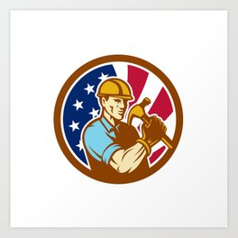 American Handyman USA Flag Icon Art Print