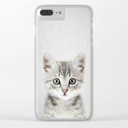 Kitten - Colorful Clear iPhone Case