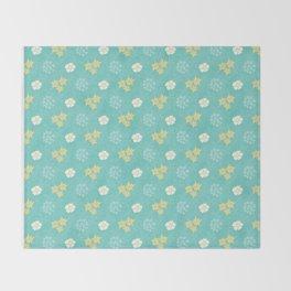 Hana Space - Yellow and Teal Throw Blanket