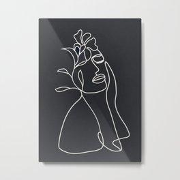 Abstract Minimal Woman IV Metal Print