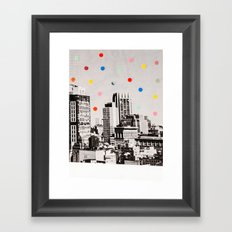 citydots Framed Art Print