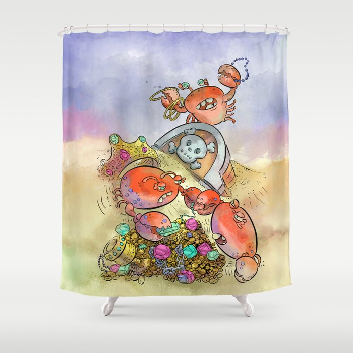 Buried Treasure Shower Curtain