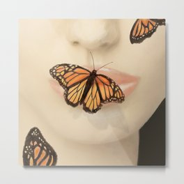Butterfly Kiss Metal Print