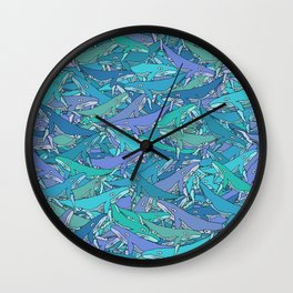 Whale Mix Wall Clock
