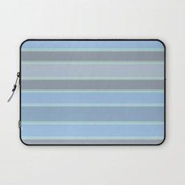 Blue gray stripes Laptop Sleeve