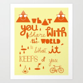 keeps of you Art Print