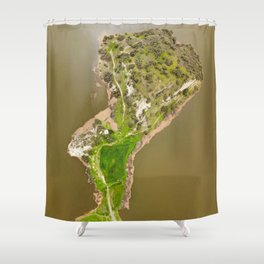 The fjords of Limassol Shower Curtain