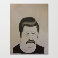 swanson Canvas Prints featuring Swanson by Clayton Craiger