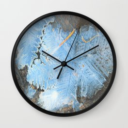 ice flowers Wall Clock