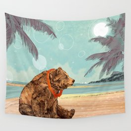 Beach Bear Wall Tapestry