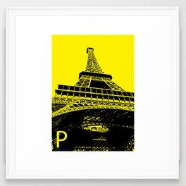 Paris P Framed Art Print