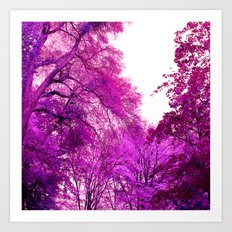 purple trees II Art Print