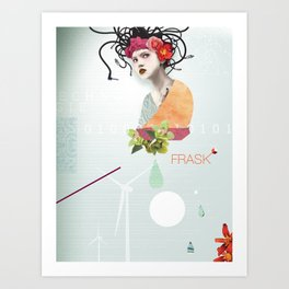FRASK techno Art Print