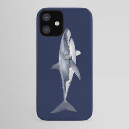 WHITE SHARK (navy blue) iPhone Case