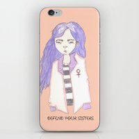 sisters iPhone & iPod Skins featuring sisters by Megan Rhiannon