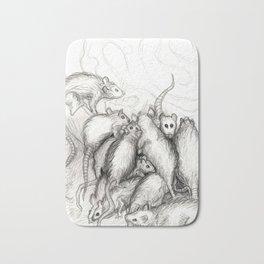Rats Feeding on Milk Bath Mat