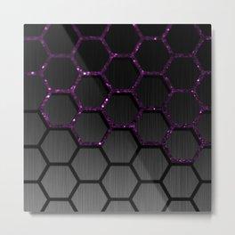 Purple Chain Metal Print