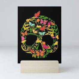 Scull Flower Mini Art Print